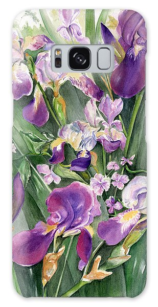 Irises In The Garden Galaxy Case