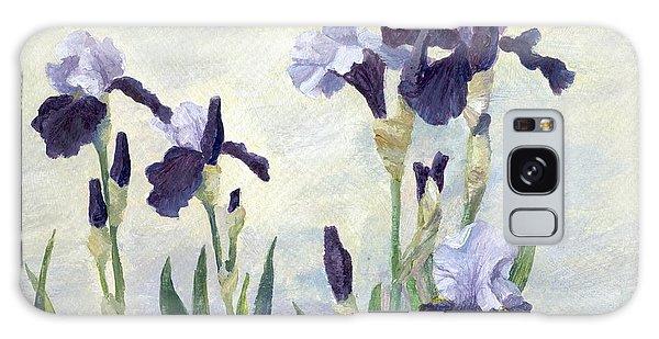 Irises Purple Flowers Painting Floral K. Joann Russell                                           Galaxy Case