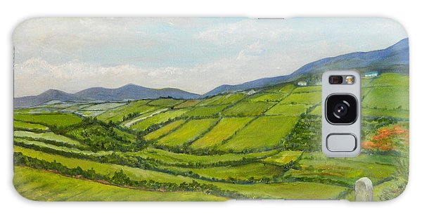 Irish Fields - Landscape Galaxy Case by Sandra Nardone