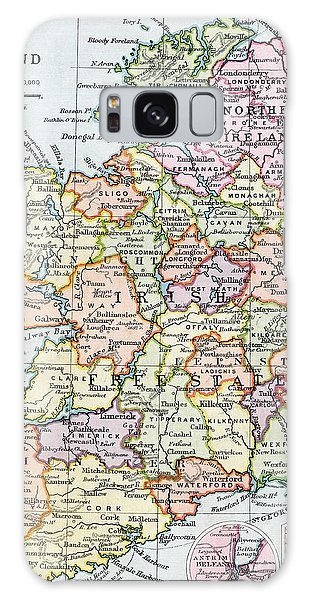 Irish Free State And Northern Ireland From Bacon S Excelsior Atlas Of The World Galaxy Case