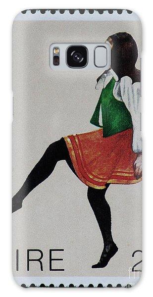 Irish Music And Dance Postage Stamp Print Galaxy Case