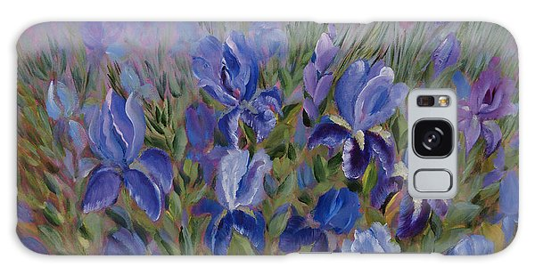 Irises Galaxy Case by Joanne Smoley