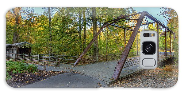 Iron Bridge At Yellow Creek Galaxy Case by Wendell Thompson