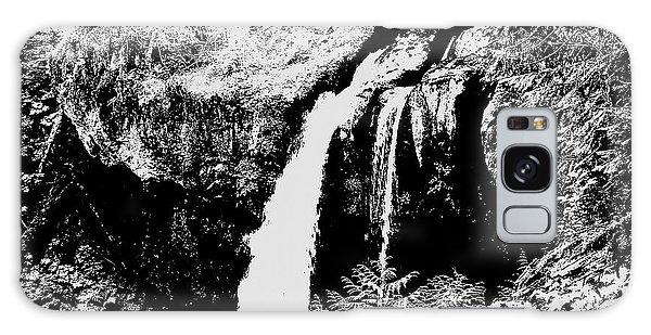 Iron Creek Falls Bw Galaxy Case by Rich Collins