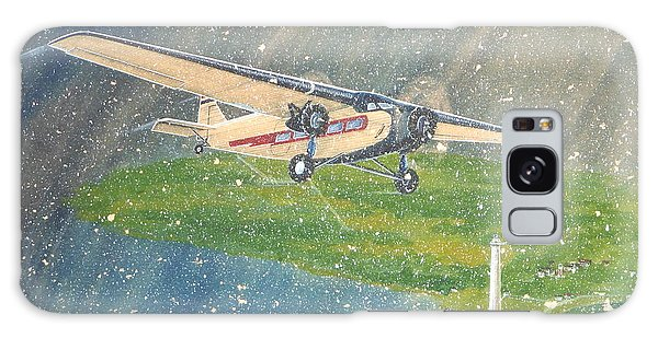 Island Airlines Ford Trimotor Over Put-in-bay In The Winter Galaxy Case