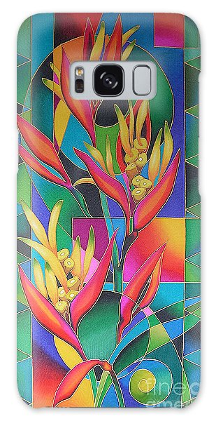 Island Flowers - Heliconia Galaxy Case