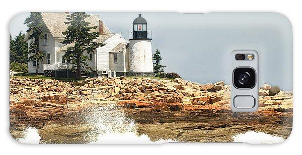 Island Lighthouse Galaxy Case by Raymond Earley