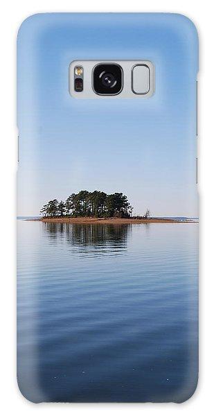 Island On Lake Sam Rayburn Galaxy Case by Max Mullins