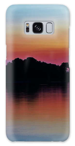 Island Silhouette Galaxy Case by William Bartholomew