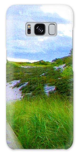 Island State Park Boardwalk Galaxy Case by Pamela Hyde Wilson