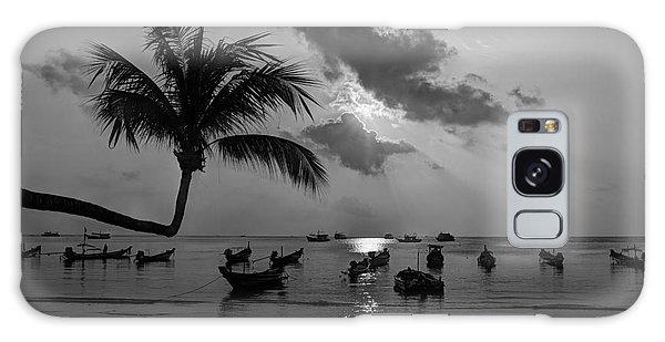Island Sunset Galaxy Case by Alex Dudley