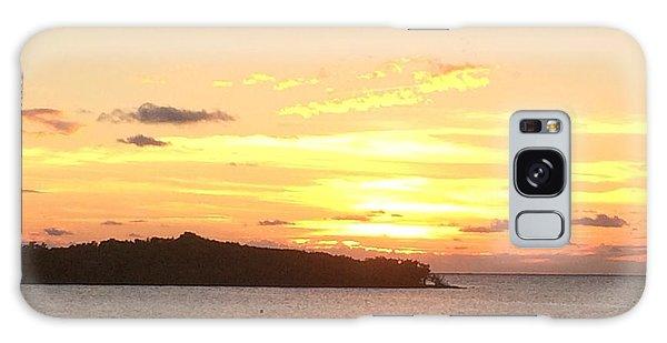 Island Sunset Galaxy Case