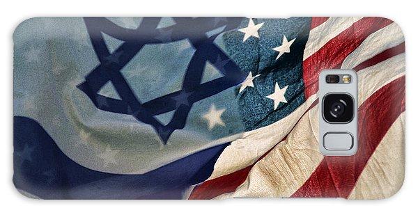 Israeli American Flags Galaxy Case