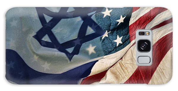 Israeli American Flags Galaxy Case by Ken Smith