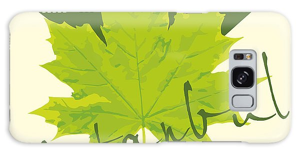 Castle Galaxy Case - Istanbul City And Sycamore Leaf Vector by A1vector