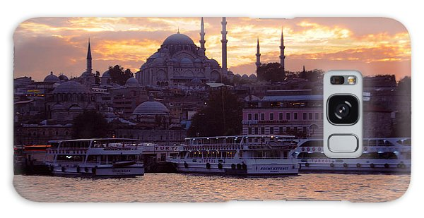 Istanbul Port Sunset Galaxy Case by Haleh Mahbod