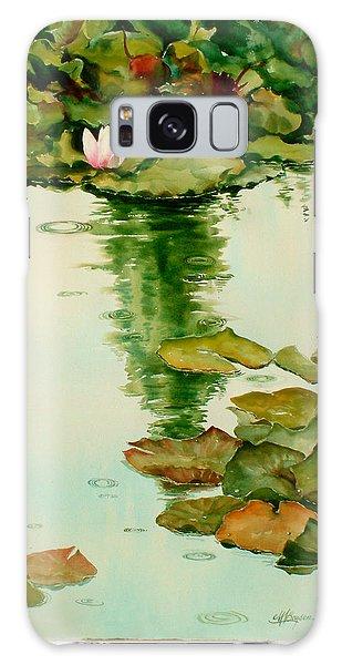 It Also Rains In Monet's Garden Galaxy Case