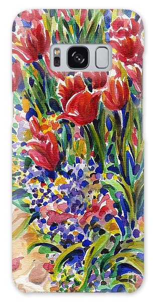 It Might As Well Be Spring Galaxy Case by Dee Davis