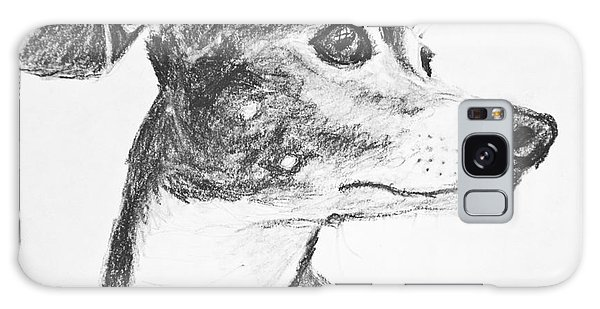 Italian Greyhound Sketch In Profile Galaxy Case by Kate Sumners