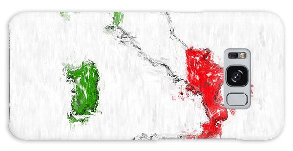 Italy Painted Flag Map Galaxy Case
