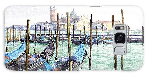 Cityscape Galaxy Case - Italy Venice Gondolas Parked by Yuriy Shevchuk