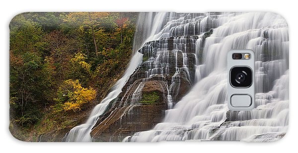 Ithaca Falls In Autumn Galaxy Case