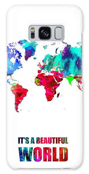 Comical Galaxy Case - It's A Beautifull World Poster by Naxart Studio