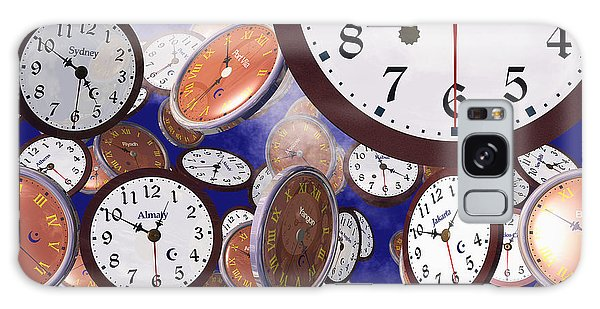 It's Raining Clocks - New York Galaxy Case by Nicola Nobile