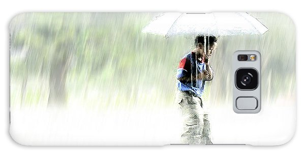 Galaxy Case featuring the photograph It's Raining Outside by Heiko Koehrer-Wagner