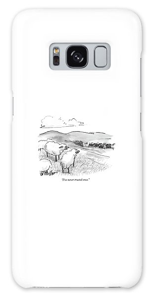 Pasture Galaxy Case - I've Never Trusted Cows by Warren Miller