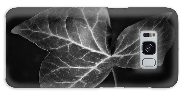 Black And White Flowers Macro Photography Art Work Galaxy Case by Artecco Fine Art Photography