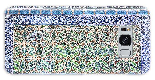 Iznik Ceramics With Floral Design Galaxy Case