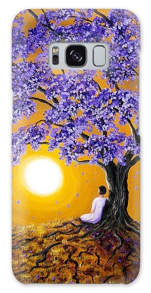 Jacaranda Sunset Meditation Galaxy Case