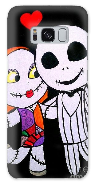 Jack And Sally Galaxy Case by Marisela Mungia