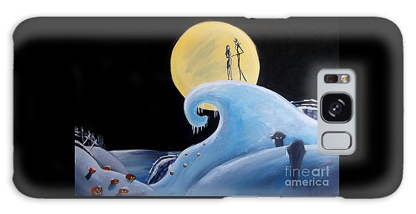 Jack And Sally Snowy Hill Galaxy Case by Marisela Mungia