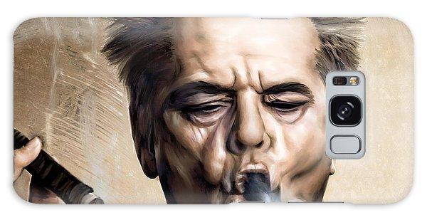 People Galaxy Case - Jack Nicholson by Andrzej Szczerski