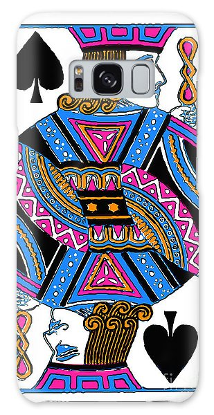 Galaxy Case featuring the photograph Jack Of Spades - V3 by Wingsdomain Art and Photography