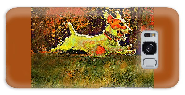 Jack Russell In Autumn Galaxy Case by Jane Schnetlage