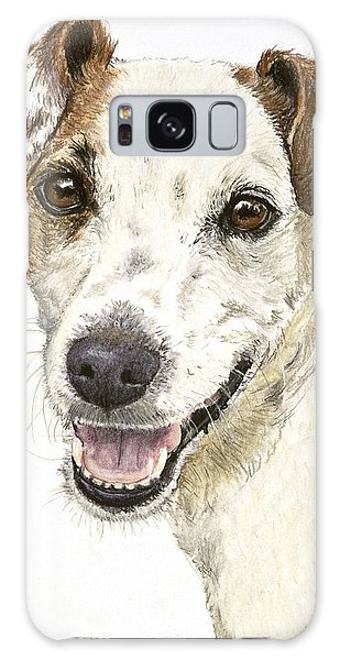 Jack Russell Terrier Portrait Galaxy Case by Kate Sumners
