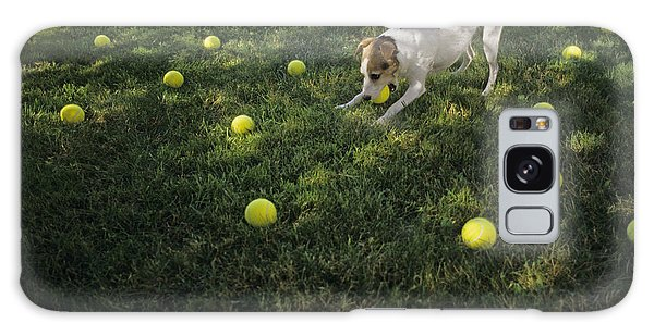 Jack Russell Terrier Tennis Balls Galaxy Case