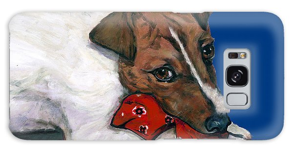 Jack Russell With A Red Bandana Galaxy Case