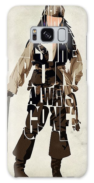 Jack Sparrow Inspired Pirates Of The Caribbean Typographic Poster Galaxy Case