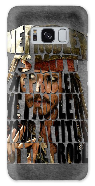 Jack Sparrow Quote Portrait Typography Artwork Galaxy Case