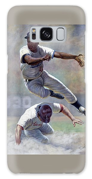 Baseball Players Galaxy S8 Case - Jackie Robinson by Gregory Perillo