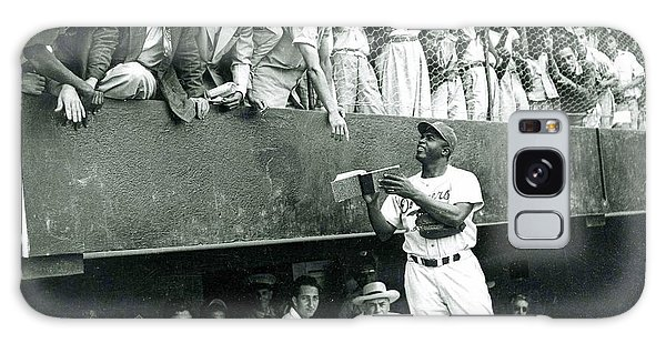 Jackie Robinson Signs Autographs Vintage Baseball Galaxy Case