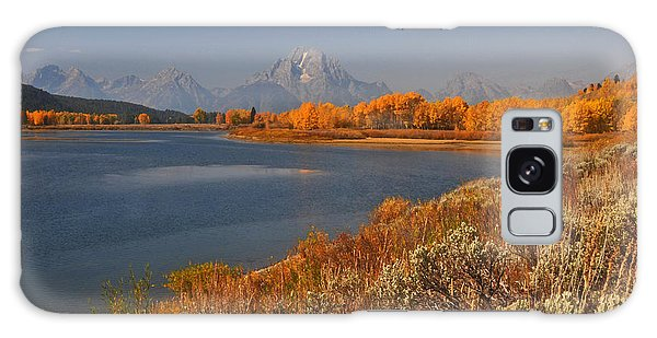 Jackson Lake Orange Shoreline In Autumn Grand Tetons National Park Galaxy Case