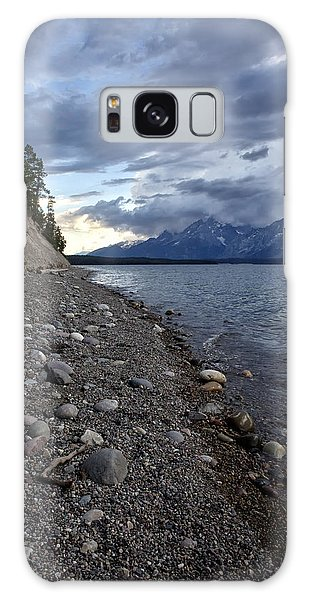 Jackson Lake Shore With Grand Tetons Galaxy Case by Belinda Greb