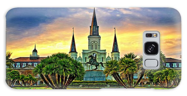 Jackson Square Evening - Paint Galaxy Case by Steve Harrington