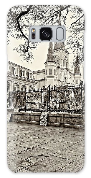 Jackson Square Winter Sepia Galaxy Case by Steve Harrington
