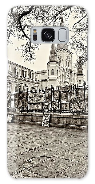 Jackson Square Winter Sepia Galaxy Case